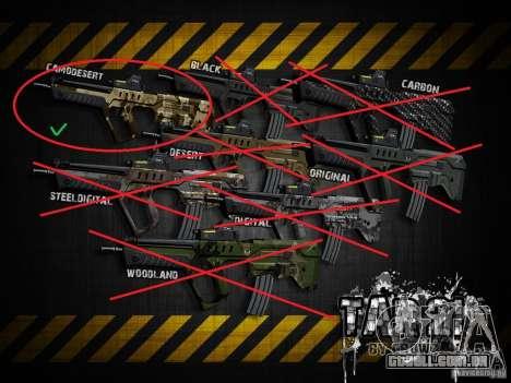 Tavor Tar-21 Camodesert para GTA San Andreas por diante tela