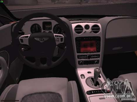 Bentley Continetal SS Dubai Gold Edition para GTA San Andreas vista traseira