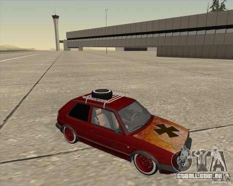 VW Golf II Shadow Crew para GTA San Andreas vista traseira