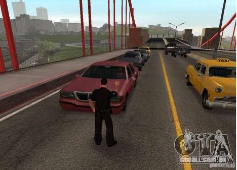 Um homem-bomba na ponte para GTA San Andreas segunda tela