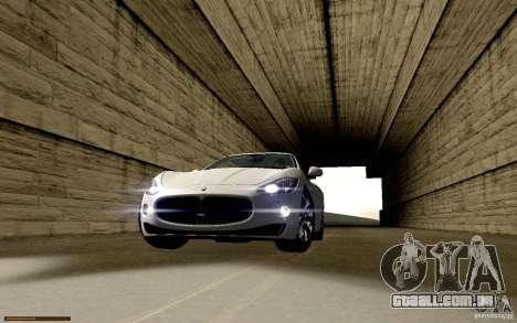 Maserati Gran Turismo 2008 para GTA San Andreas vista inferior