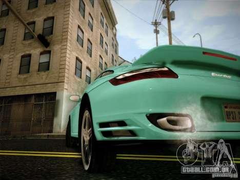 Porsche 911 (997) turbo para GTA San Andreas traseira esquerda vista