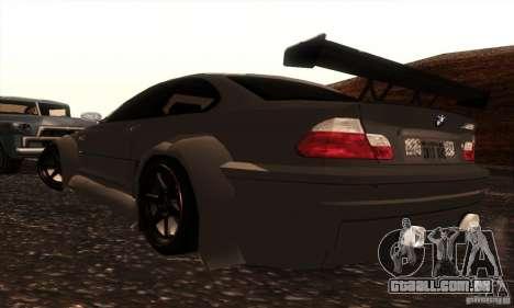 BMW M3 para GTA San Andreas vista interior