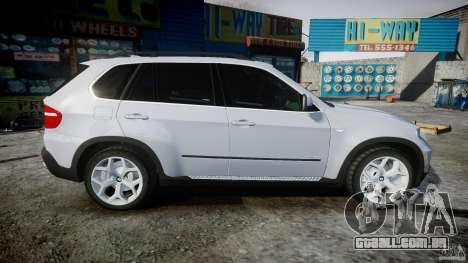 BMW X5 Experience Version 2009 Wheels 214 para GTA 4 vista lateral