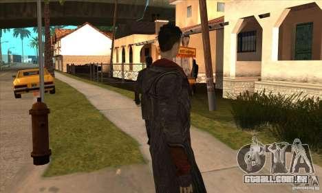 Dante de Devil May Cry para GTA San Andreas quinto tela