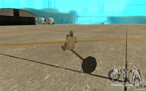 Flying Broom para GTA San Andreas vista direita