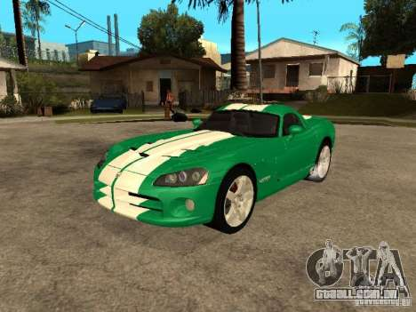 Dodge Viper Coupe 2008 para GTA San Andreas vista superior
