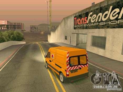 Renault Master para vista lateral GTA San Andreas