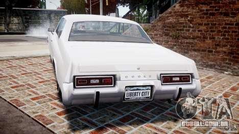 Dodge Monaco 1974 para GTA 4 traseira esquerda vista