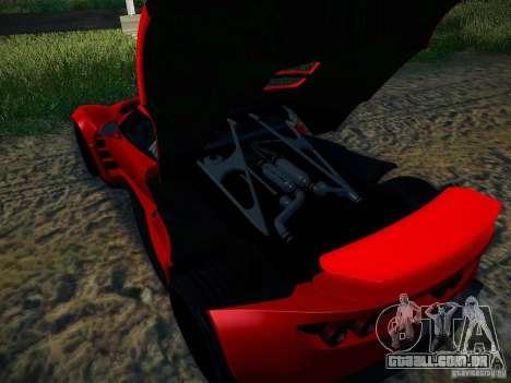 Hennessey Venom GT Spyder para GTA San Andreas vista interior