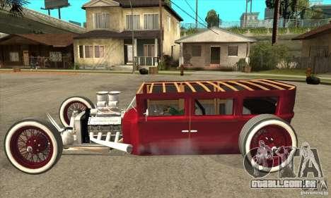 HotRod sedan 1920s no extra para GTA San Andreas esquerda vista