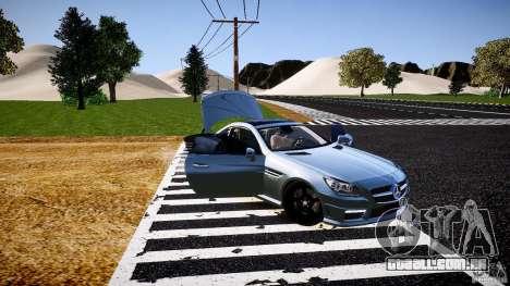 Mercedes-Benz SLK 2012 para GTA 4 vista inferior