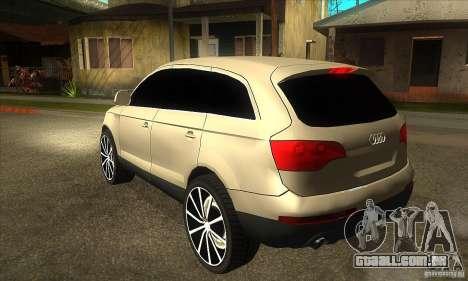 Audi Q7 v2.0 para GTA San Andreas traseira esquerda vista