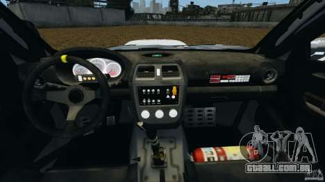 Subaru Impreza WRX STI N12 para GTA 4 vista de volta