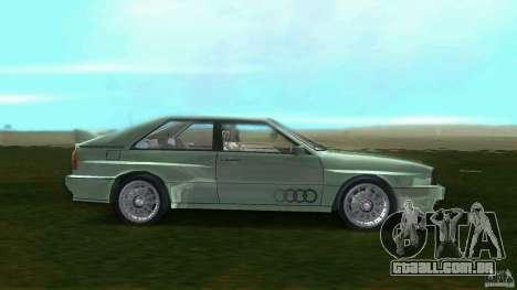 Audi Quattro para GTA Vice City deixou vista