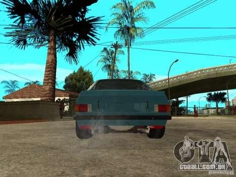 Ford Escort Mk2 para GTA San Andreas traseira esquerda vista