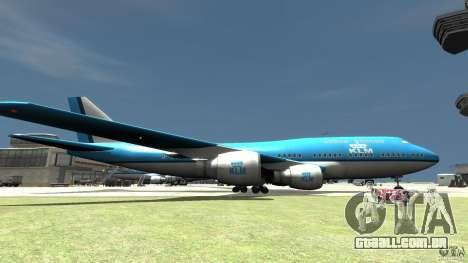 Real KLM Airplane Skin para GTA 4 esquerda vista