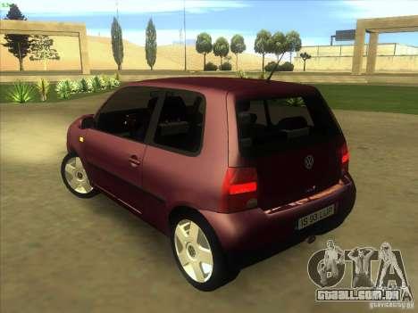 Volkswagen Lupo para GTA San Andreas traseira esquerda vista