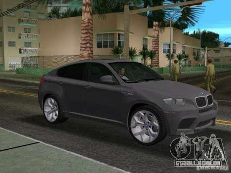 BMW X6M para GTA Vice City vista traseira esquerda