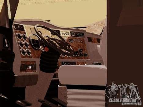 Kenworth T2000 para GTA San Andreas vista interior