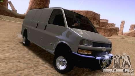 Chevrolet Savana 3500 Cargo Van para GTA San Andreas