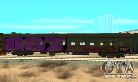 Custom Graffiti Train 2 para GTA San Andreas vista direita