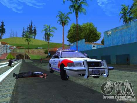 Ford Crown Victoria Police Patrol para GTA San Andreas vista direita