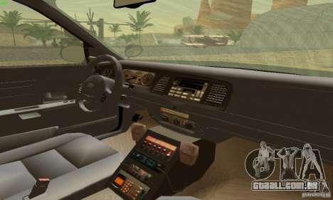 Ford Crown Victoria Maryland Police para GTA San Andreas traseira esquerda vista