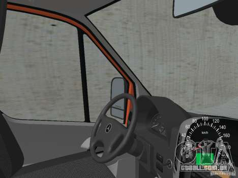 Mercedes-Benz Sprinter 518 MAXI 2007 para GTA San Andreas vista interior