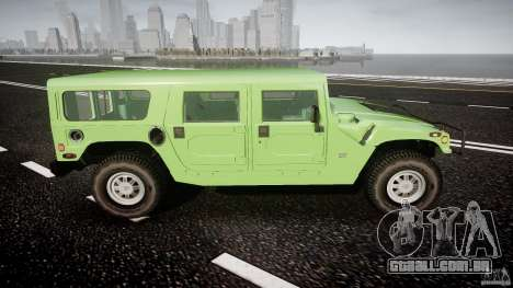 Hummer H1 para GTA 4 vista superior