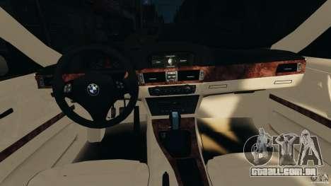 BMW 330i E92 para GTA 4 vista de volta