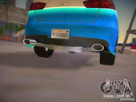 Mitsubishi Lancer Evo X Tunable para GTA San Andreas vista inferior