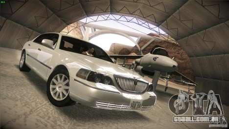 Lincoln Towncar 2010 para GTA San Andreas vista traseira