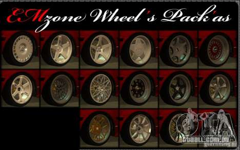 Wheels Pack by EMZone para GTA San Andreas