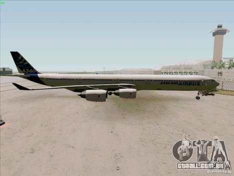 Airbus A-340-600 para GTA San Andreas esquerda vista