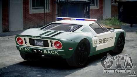 Ford GT1000 Hennessey Police 2006 [EPM][ELS] para GTA 4 traseira esquerda vista
