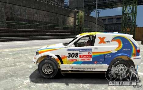 BMW X3 CC DAKAR para GTA 4 esquerda vista