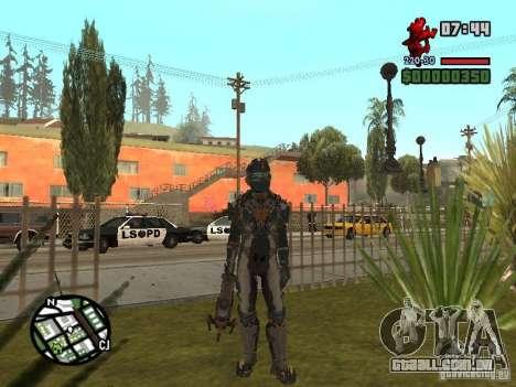 O traje dos jogos Dead Space 2 para GTA San Andreas segunda tela