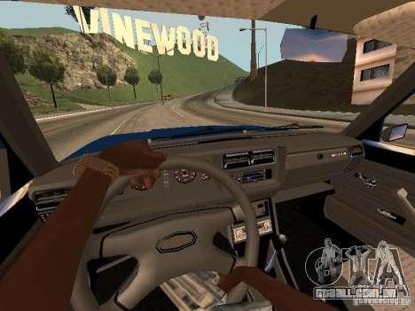 VAZ 2107 Baku para GTA San Andreas vista traseira