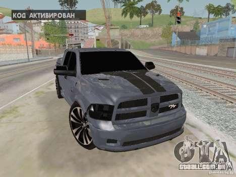 Dodge Ram R/T 2011 para GTA San Andreas vista traseira