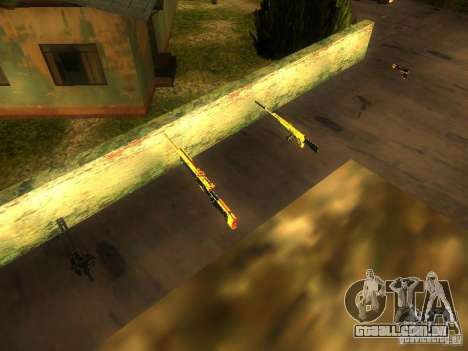 Armas na Grove Street para GTA San Andreas sétima tela
