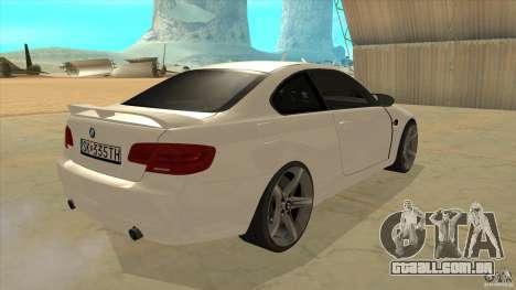 BMW 335i Coupe 2011 para GTA San Andreas vista direita