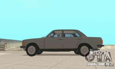 Mercedes-Benz 230 W123 para GTA San Andreas vista direita