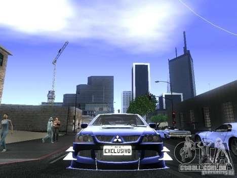 Mitsubishi Lancer Evolution VIII para GTA San Andreas vista direita