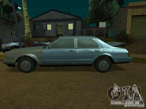 O táxi de romanos de GTA4 para GTA San Andreas traseira esquerda vista