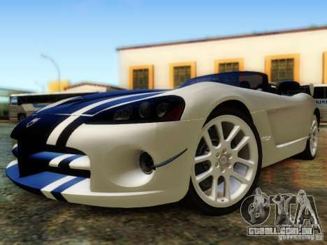 Dodge Viper SRT-10 Roadster ACR 2004 para vista lateral GTA San Andreas