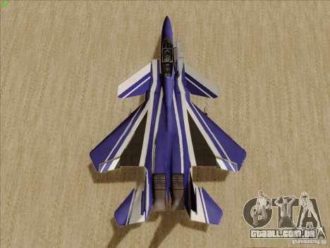 F-15 SMTD para GTA San Andreas vista traseira