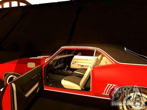 Chevrolet Camaro 1967 para GTA San Andreas vista traseira