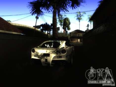 ENB Series Project BRP para GTA San Andreas por diante tela