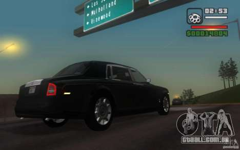 Rolls-Royce Phantom EWB para GTA San Andreas vista direita